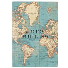 Vintage Map Sass U0026 Belle Vintage Map Big Ideas Notebook Multi Colour Amazon
