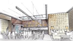 long island city bakery by oda interior design sketches