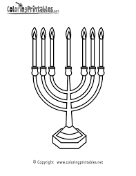 jewish candles coloring page a free religion coloring printable