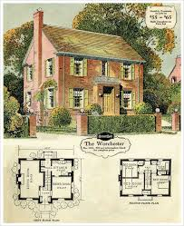 brick colonial house plans 1920 s colonial house plans