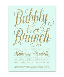 brunch bridal shower invitations mint brunch bubbly bridal shower invitation mint gold
