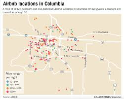 Columbia Missouri Map Proposal Could Make Airbnb Rentals Taxable Local