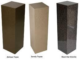stone laminate pedestal laminated pedestal display floor stand