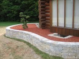 attractive garden retaining wall med art home design posters