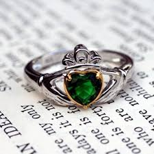 clatter ring emerald claddagh ring emerald heart claddagh ring claddagh ring