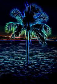 electric blue palm tree mixed media by walton