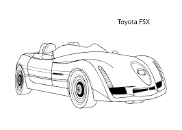printable 51 cool car coloring pages 7901 super car toyota fsx