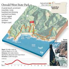 Oregon Coast Camping Map by Oswald West State Park Tempts With Neahkahnie Mountain Pacific