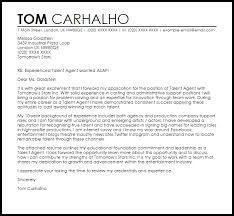talent agent cover letter sample livecareer