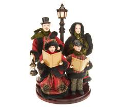 dickens carolers with l post by valerie page 1 qvc
