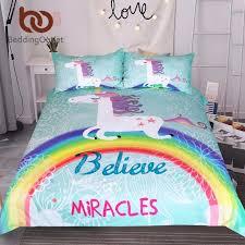 Single Bed Sets Beddingoutlet Unicorn Bedding Set Believe Miracles Single
