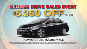 toyota official dealer over 5000 toyota camry summer drive sales event youtube