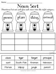 noun town k 2 a fun activity to review nouns before vacation or at