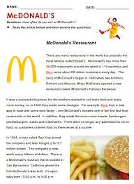 mcdonald u0027s all things topics