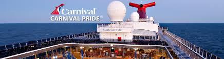 carnival pride cruise ship 2017 and 2018 carnival pride