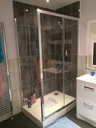raised shower tray in a bathroom installation by uk bathroom guru