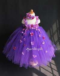 mixed purple flower dress hydrangea flower tutu dress