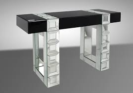 perry transitional mirrored console table