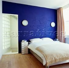 cobalt blue bedroom a bedroom with cobalt blue painted brick wall client katie