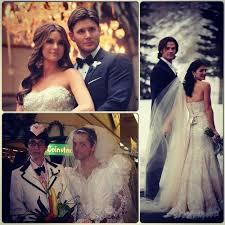 wedding dress cast supernatural cast weddings though supernatural amino