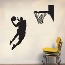 Stickers For Walls In Bedrooms by Huge Basketball Wall Decal Decor Art Stickers By Happywallz