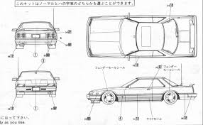 nissan skyline drawing nissan skyline r30 rs smcars net car blueprints forum
