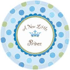 baby shower paper prince baby shower paper plates from all you need to party uk