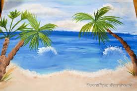 how to paint easy palm trees flower patch farmhouse
