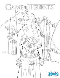 game of thrones princess daenerys targaryen coloring pages