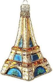 eiffel tower christmas tree ornament paris france christmas