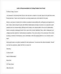 College Letter Of Recommendation From A Family Friend bunch ideas of college letter of recommendation sle from family