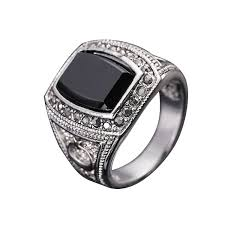 man rings design images Fg size 8 11 fashion men jewelry moon star design 18k white gold jpg