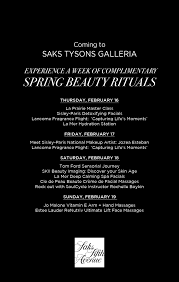 saks fifth avenue black friday spring beauty week at saks fifth avenue tysons galleria