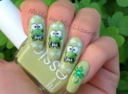 nails by ms lizard happy st patrick u0027s day from keroppi