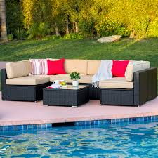Patio Furniture Clearance Canada by Best Choice Products 7pc Outdoor Patio Garden Wicker Furniture