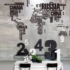 buy wall stickers world map online at travel nuts modern letter world map vinyl wall stickers