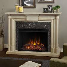 White Electric Fireplace With Bookcase White Electric Fireplaces Fireplaces The Home Depot