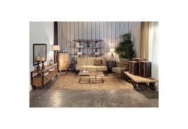 structure canapé canapé 3 places industriel structure en métal marron et fauteuil en
