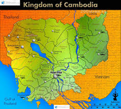 Map Of Cambodia камбоджи с аэропортами и территориальным делением Map Of