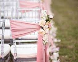 wedding chair bows blush chair sashes etsy