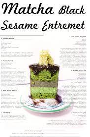 matcha black sesame entremet with white sesame nougatine a