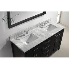 Virtu USA MDWMSQ Caroline  Double Square Sinks Bathroom - Bathroom vanity counter top 2