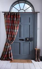 Wool Curtains The Addition To A Country Home Doorway A Thermal Wool