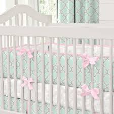 Aqua And Pink Crib Bedding by Quatrefoil Crib Bedding Creative Ideas Of Baby Cribs