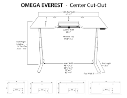 Ergo Standing Desk by Omega Everest Stand Up Desk With Built In Steadytype Keyboard Tray
