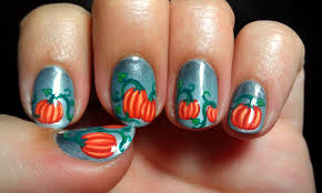 pumpkin nail designs choice image nail art designs