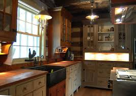 Log Home Kitchen Cabinets - a log cabin kitchen handmade houses with noah bradley