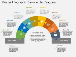 Puzzle Infographic Semicircular Diagram Powerpoint Template Ppt Tempelate
