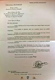 lettre pour mariage la lettre anti mariage de christian jeanjean maire ump de
