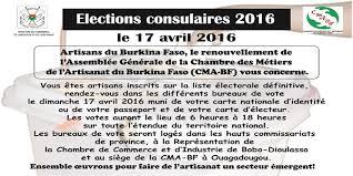 annonce chambre des metiers annonce élections chambre des metiers et de l artisanat du burkina